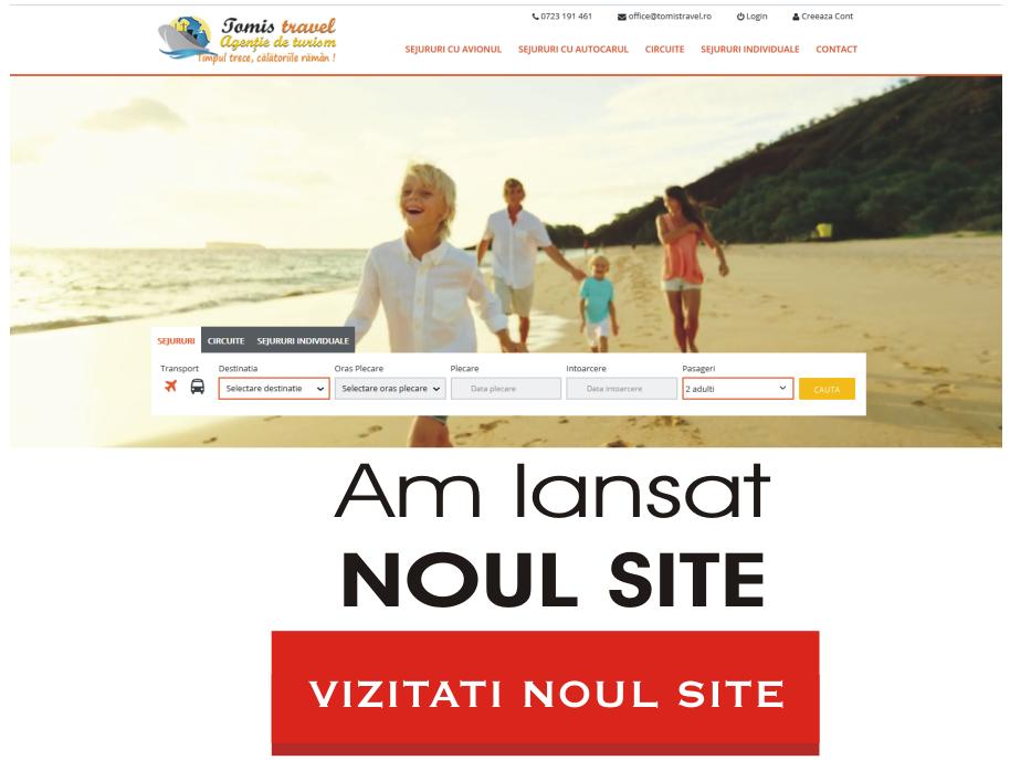 Lansare site tomistravel.ro