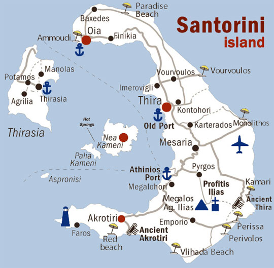 Harta Insula Santorini