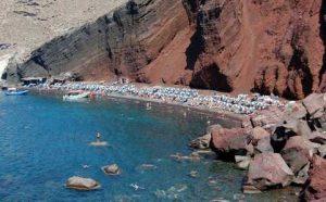 Plaja rosie Santorini Plaja Akrotiri