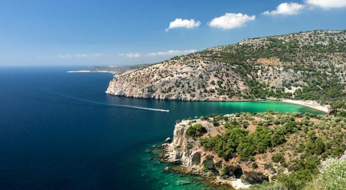 thassos island, greece panoramic view