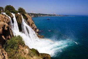 09 Jul 2011, Antalya, Turkey --- Turkey, Mediterranean region, Turquoise Coast, Pamphylia, Antalya, Duden Selalesi waterfalls --- Image by © Bertrand Gardel/Hemis/Corbis